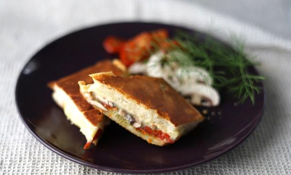 フィレンツェのフォカッチャ風  超熟ホットサンド