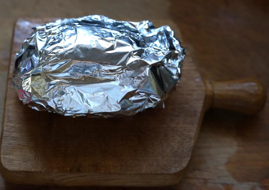 塩麹 ローストポーク アルミホイル