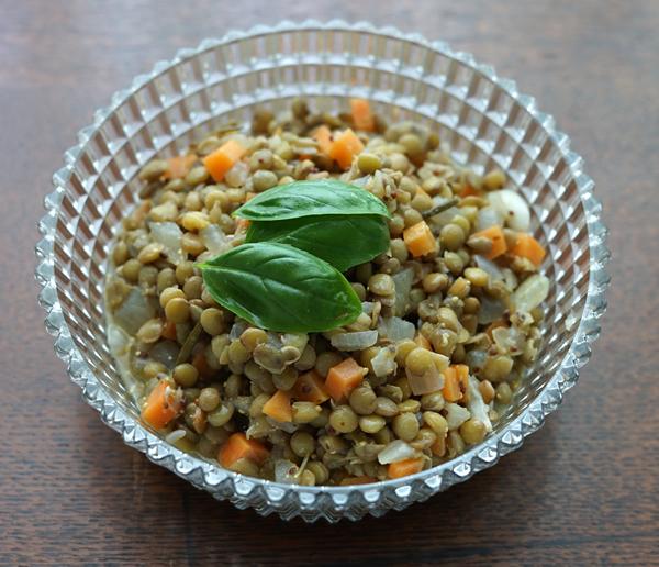 レンズ豆の冷たいサラダ