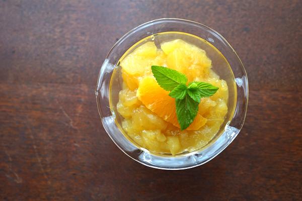 オレンジジュース 炭酸水 ゼリー