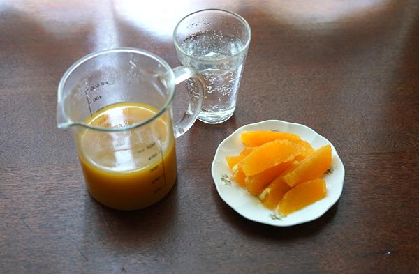 オレンジ 炭酸ゼリー
