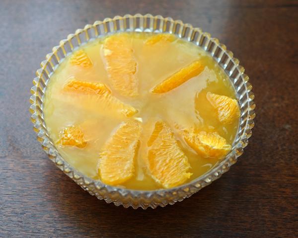 シュワっとさっぱり オレンジと炭酸のゼリー