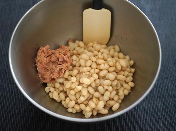 白インゲン豆 ツナ