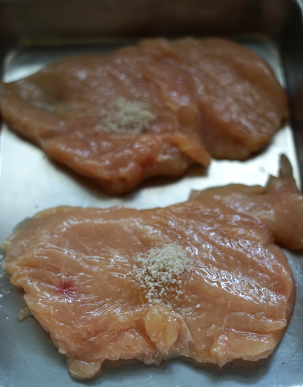 蒸し鶏 ローズマリー