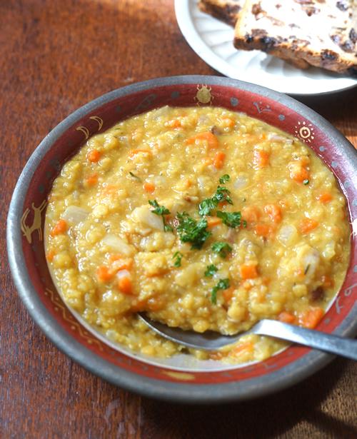 レンズ豆のカレースープ