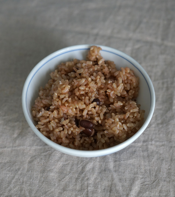 小豆入り玄米