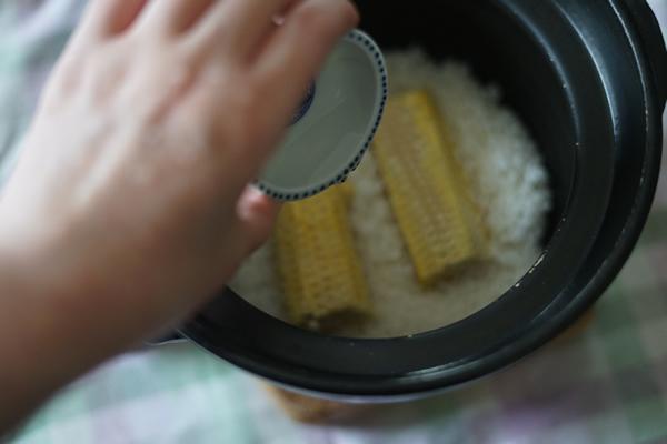 とうもろこしご飯 土鍋