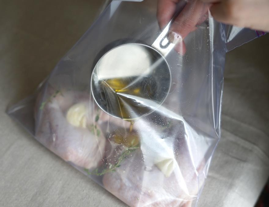 鶏胸肉 オリーブオイル ジップロック