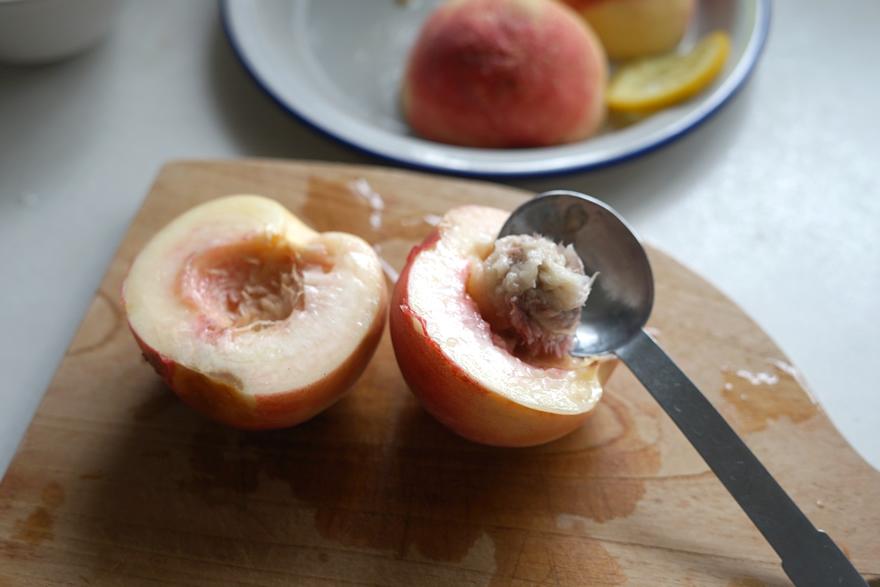 桃のコンポート 低温調理